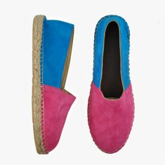 PINK BLUE  Multi Leather  Espadrilles