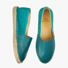 GREEN PETROL  Multi Leather  Espadrilles