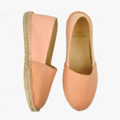 PINK PEACH  Multi Leather Espadrilles