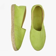 LIME  Goat Suede  Espadrilles