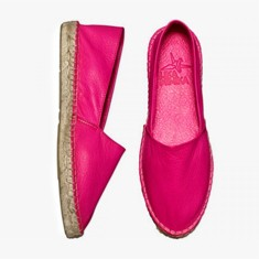 NEON PINK  Calf Leather  Espadrilles