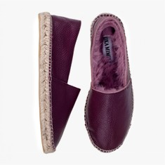 BORDEAUX  Rabbit Fur  Espadrilles