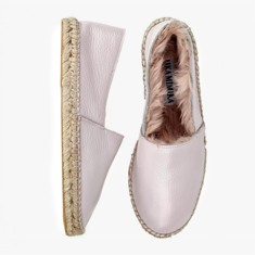 ROSE  Rabbit Fur  Espadrilles
