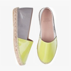 NEON GREY  Patent Leather  Espadrilles