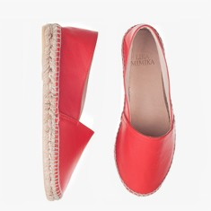 CORAL  Lamb Leather  Espadrilles