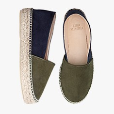 GREEN AND BLUE UPGRADE  Goat Suede  Espadrilles