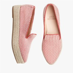 WOVEN RED  Plateau Loafer