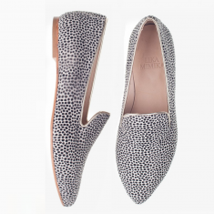 LEO DOTS  CALF HAIR  Flat Loafer