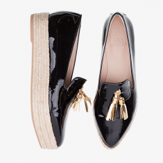 BLACK TASSLE  Plateau Loafer