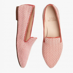 WOVEN RED  Flat Loafer