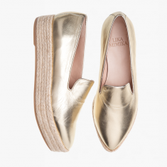GOLD SHIMMER  Plateau Loafer