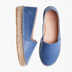 BEACH BLUE UPGRADE  Calf Leather  Espadrilles