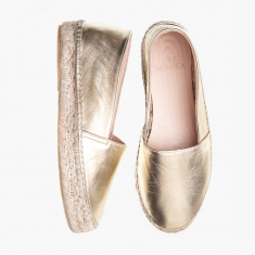GOLD SHIMMER UPGRADE  Calf Leather  Espadrilles