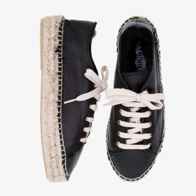 BLACK BIRD  Rabbit Fur  Lace Up