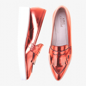 ALOE ORANGE  Toe Penny Loafer