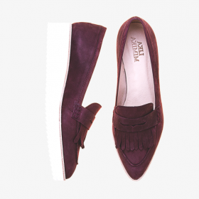 BLACK CURRANT  Toe Penny Loafer