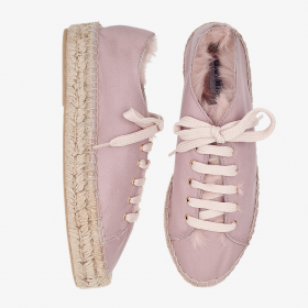 FLAMINGO  Rabbit Fur  Lace Up
