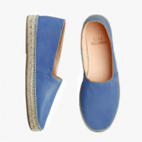 BEACH BLUE  Calf Leather   Espadrilles