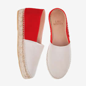 CHERRY MAPLE CREAM  Multi Leather  Espadrilles