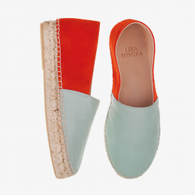 BLUE HAZE TANGERINE  Multi Leather  Espadrilles