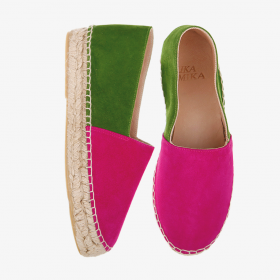 GREEN POMEGRANATE  Goat Suede  Espadrilles