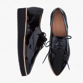 BLACK NUIT  Oxford Lace Up