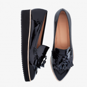 BLACK NUIT  Toe Penny Loafer