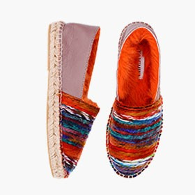 BEL FOREST  Rabbit Fur  Espadrilles