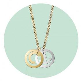 NEW! Symbol Initials   Kette gold  Anhaengerkombination 3