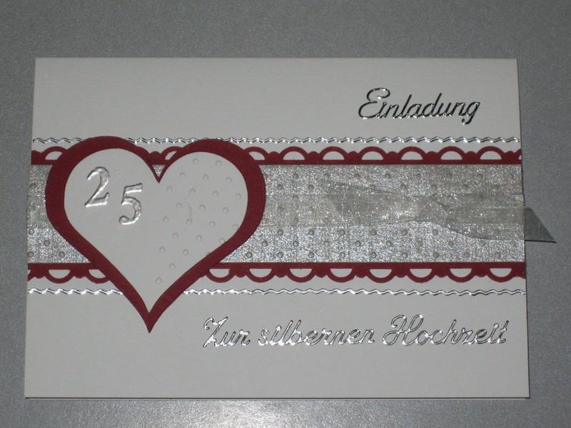 Schön Silberhochzeit Einladung Basteln | Katrinakaif, Kreative Einladungen