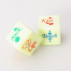 English Adult Funny Adult Love Night Glow Humor Gambling Dice Sex Romance Dice Sexy Lovers Dice Erotic Craps - Pair