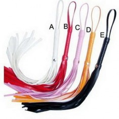 45cm Long Small Leather Short Shank Whip Scattered Whip Sex Flirting Toy - Color Random