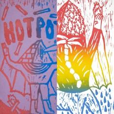 Jakob Feltsen HOT POTS +  I AM A CENTAUR TODAY fanzine + linocut print