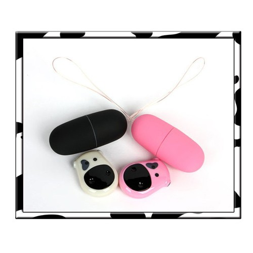 Cute Cow Remote Control Silent Vibrating Egg Mute Waterproof Sex Bullet Style Toys for Women - Color Random