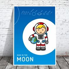 A2 Plakat Mann im Mond