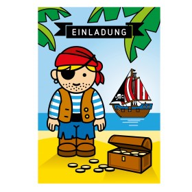 Einladungskarte Pirat